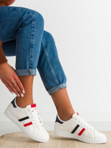 Pantofi sport cod 415 White/ Red/Blue