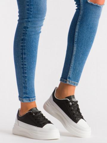 Pantofi sport cod 5813 Black/White