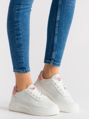 Pantofi sport cod 5816 White/Pink
