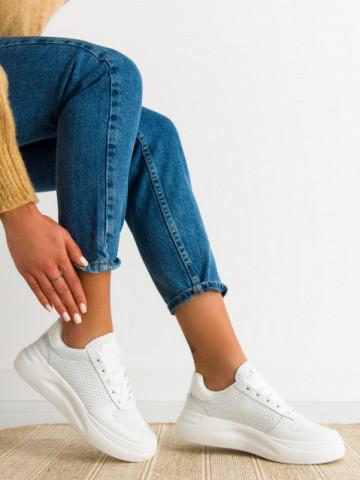 Pantofi sport cod 5816 White