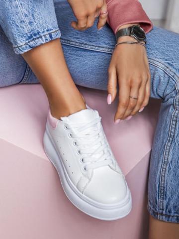 Pantofi sport cod 7935 White/Pink