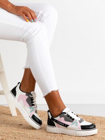 Pantofi sport cod 810 White/Black