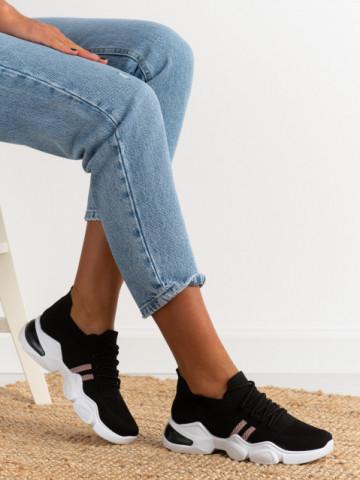 Pantofi sport cod 86002 Black/Pink