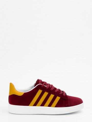 Pantofi sport cod A6 Wine/Yellow