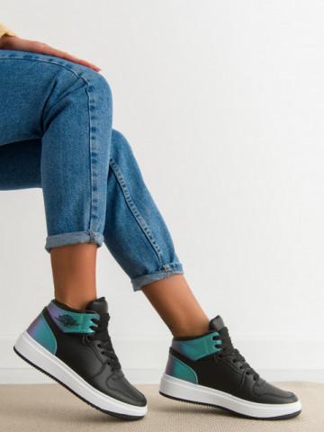 Pantofi sport cod AJ108 Black/Green