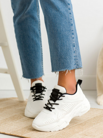 Pantofi sport cod BM589 White/Black
