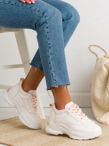 Pantofi sport cod BO563 White/Pink