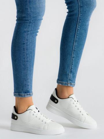 Pantofi sport cod J1827 White/Black