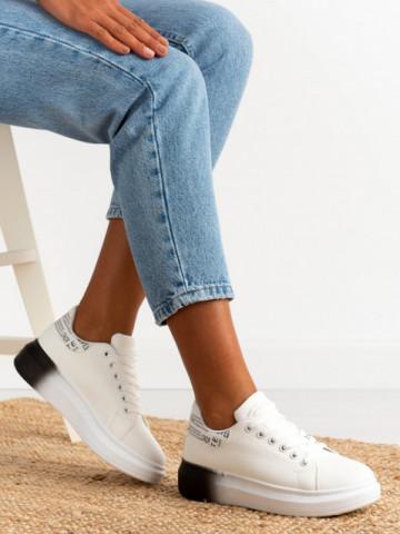 Pantofi sport cod J1858 White/Black