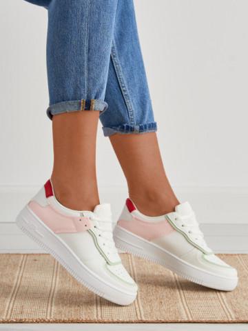 Pantofi sport cod KJ1 White/Pink