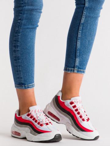 Pantofi sport cod R597 White/Red