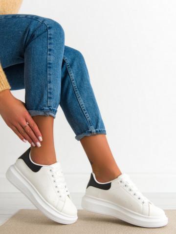 Pantofi sport cod R625 White/Black
