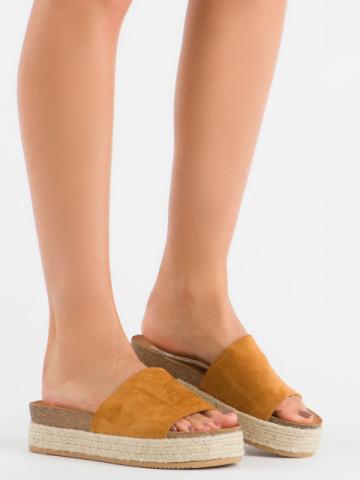 Papuci cod 10-215 Camel