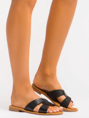 Papuci cod C1073 Black