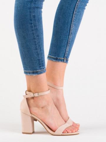 Sandale cu toc cod 012-1Y Beige