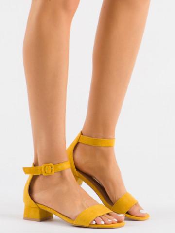 Sandale cu toc cod 3008 Yellow