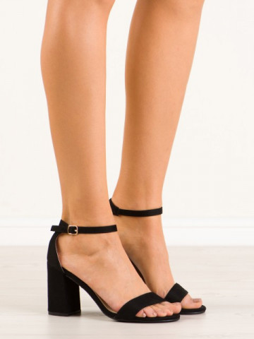 Sandale cu toc cod 6266-1 Black