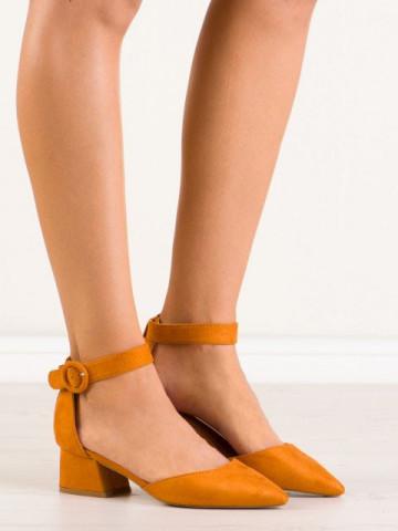 Sandale cu toc cod 9250-26 Yellow