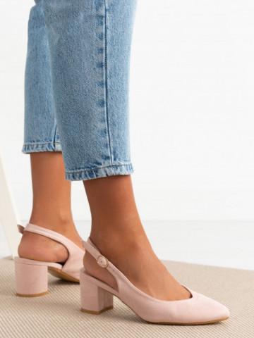 Sandale cu toc cod 9R27 Nude