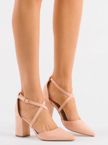 Sandale cu toc cod D85-5Y Nude