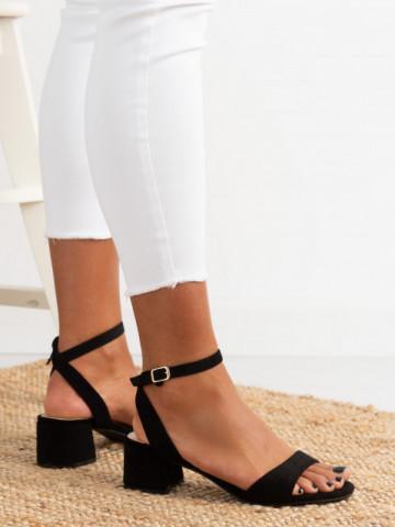 Sandale cu toc cod F9023 Black