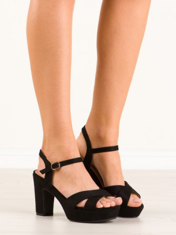 Sandale cu toc cod JC15017 Black