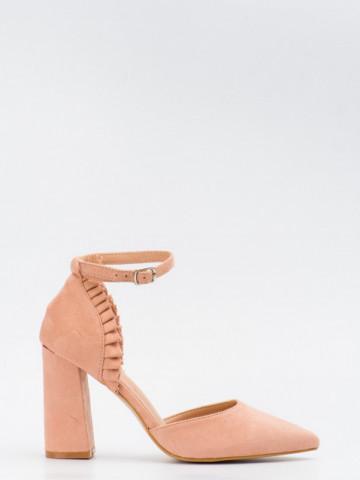 Sandale cu toc cod KK37 Pink