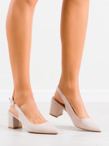 Sandale cu toc cod LL206 Beige