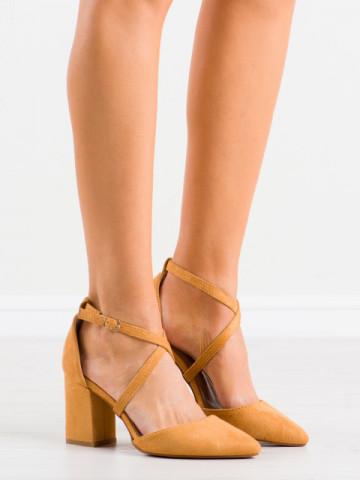 Sandale cu toc cod NC900 Camel
