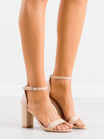 Sandale cu toc cod NF60 Beige