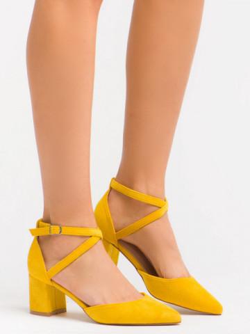 Sandale cu toc cod OD0208 Yellow