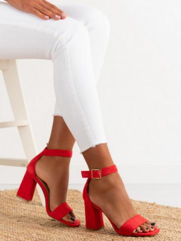 Sandale cu toc cod OD0227 Red