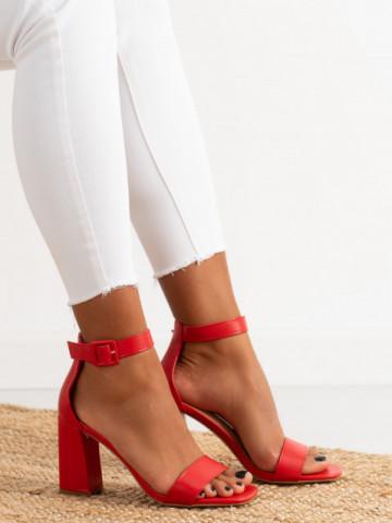 Sandale cu toc cod OD0228 Red