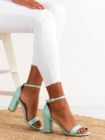 Sandale cu toc cod OD0350 Green