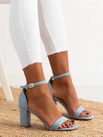 Sandale cu toc cod OD0351 Blue
