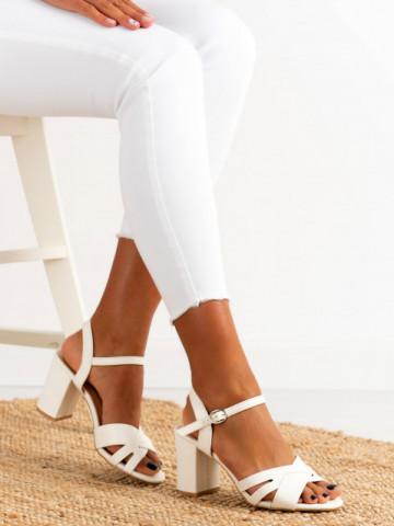 Sandale cu toc cod QL116 White