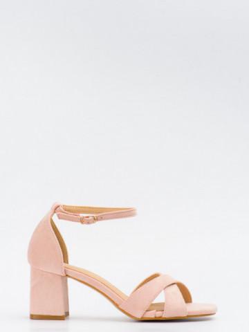 Sandale cu toc cod SK75 Pink