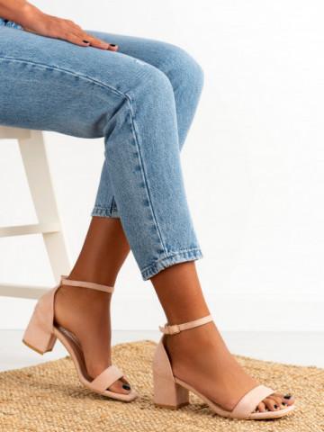 Sandale cu toc cod X503-21 Pink