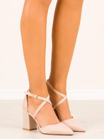 Sandale cu toc cod NC900 Beige