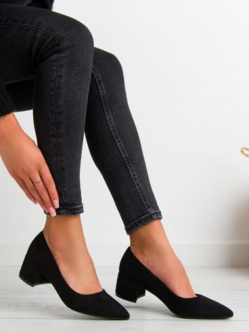 Pantofi cu toc cod 0010-10 Black