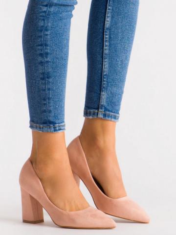 Pantofi cu toc cod 030-22 Pink