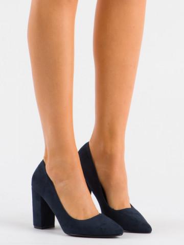 Pantofi cu toc cod 13A Blue