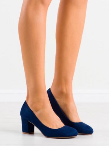 Pantofi cu toc cod 8990 Blue