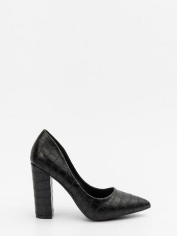 Pantofi cu toc cod 9182-1 Black
