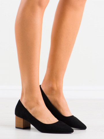 Pantofi cu toc cod CL75 Black