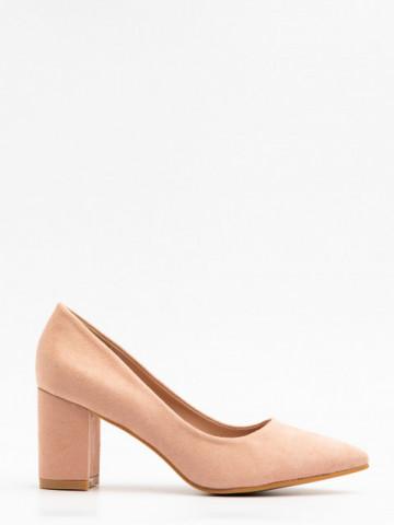 Pantofi cu toc cod X21-238 Beige
