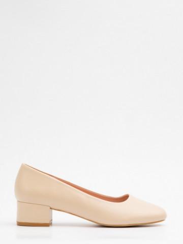 Pantofi cu toc cod X21-735 Beige