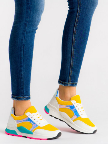 Pantofi sport cod 1063 Yellow