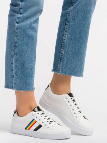 Pantofi sport cod 459 White/Black