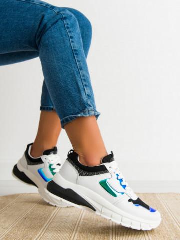Pantofi sport cod 5821 White/Green